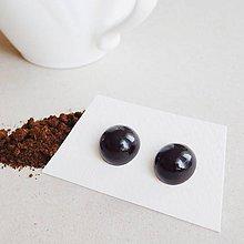 Náušnice - Náušničky 'Coffee' - polguľaté - 10420198_