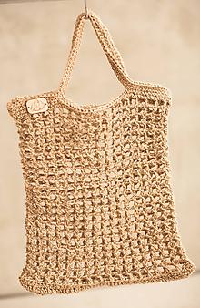 Nákupné tašky - borsa della spesa naturale grande - 10419623_