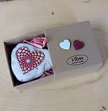 Drobnosti - Lososové srdiečko - Valentínka - 10421915_
