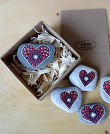 Drobnosti - Maličké červené srdiečko - Valentínka - 10422056_