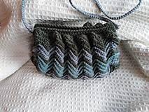 Kabelky - Háčkovaná kabelka - cik cak - 10420673_