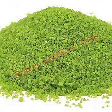 Iný materiál - Dekoračný piesok - svetlo zelená  farba - 400 g - 10419346_