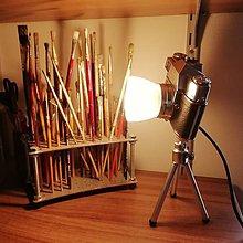 Svietidlá a sviečky - Lampa zo starého foťáku - 10418881_