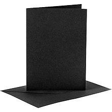 Papier - Pohľadnice a obálky čierne - 10,5x15 cm - 10419087_