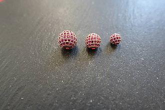 Korálky - Shamballa zl. s ružovými zirkónmi 1 - 6 / 8 / 10mm - 10418971_