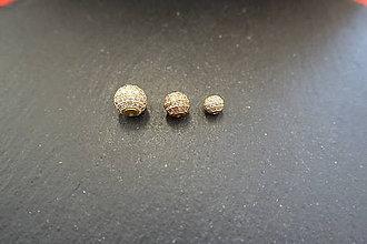 Korálky - Shamballa zl. s priehľadnými zirkónmi 1 - 6 / 8 / 10mm - 10419307_