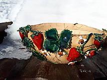 Dekorácie - Veľký kvetináč posiaty jahodami. - 10417932_