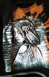 Tričká - Dámske tričko batikované,maľované indián - 10420393_