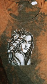 Tričká - Dámske tričko s indiánskym motívom - 10421002_