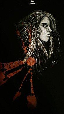 Oblečenie - Pánske tričko s indiánskym motívom - 10420535_