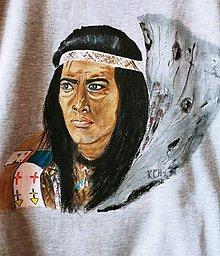 Oblečenie - Pánske tričko s indiánskym motívom Winetou - 10421842_
