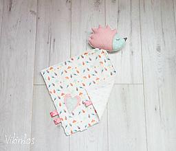 Hračky - Ježko mojkáčik ružovo-mentolový - 10418555_