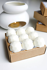Svietidlá a sviečky - Vonný vosk - Čistá bavlna - 10421155_