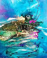 Obrazy - Turquoise swirl - 10417925_