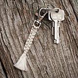 - Kľúčenka - makramé - prúžok - 10420043_