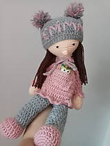 Hračky - Háčkovaná bábika Emma - 10421146_