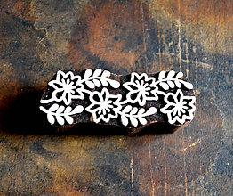 Pomôcky/Nástroje - Drevená pečiatka - lemovka krík a kvety - 10421979_