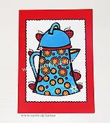 ZÁHRADNÁ KONVIČKA ♥ maľovaná pohľadnica 20,5 x 15 cm