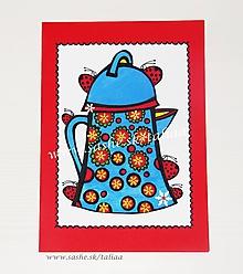 Papiernictvo - ZÁHRADNÁ KONVIČKA ♥ maľovaná pohľadnica 20,5 x 15 cm - 10420804_