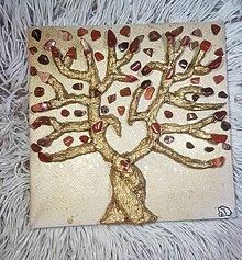 Obrazy - Strom života s liečivým kameňom Jaspis červený - 10418337_