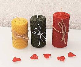 Svietidlá a sviečky - Sada točených sviečok - 10421805_