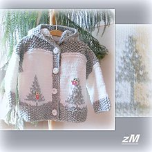Detské oblečenie - Teplý kabátik so stromčekmi. - 10418255_