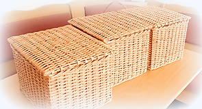 Košíky - košík s vrchnákom - 10418879_