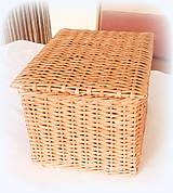 Košíky - košík s vrchnákom - 10418889_