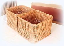Košíky - košík s vrchnákom - 10418908_