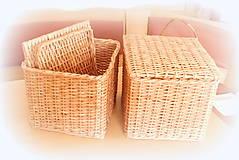 Košíky - košík s vrchnákom - 10418912_