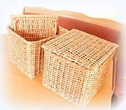Košíky - košík s vrchnákom - 10418913_