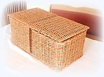 Košíky - košík s vrchnákom - 10418914_