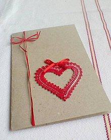Papiernictvo - pohľadnica svadobná srdiečko če - 10418511_