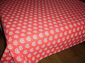 Úžitkový textil - Veľkonočný:sliepočky v srdiečkach 220x142 - 10418609_