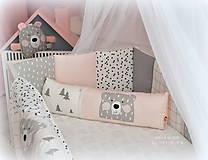 Textil - Vankúšik NORDIC 18x60cm, flis zadná strana - 10424681_