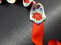 Opasky - Folk opasok (Biela stuha s fareb.kvetmi) - 10422537_