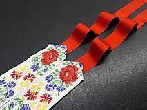 Opasky - Folk opasok (Biela stuha s fareb.kvetmi) - 10422538_