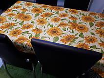 Úžitkový textil - Slnečnicový obrus (140×100 cm) - 10423204_