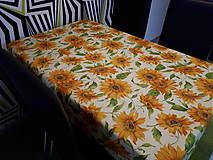 Úžitkový textil - Slnečnicový obrus (140×100 cm) - 10423208_