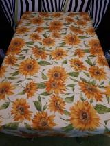 Úžitkový textil - Slnečnicový obrus (140×100 cm) - 10423210_