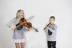 Detské oblečenie - Chlapčenská tabuľová mikina - 10423893_