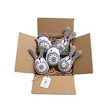 Dekorácie - Sivý mix zajačikov a sliepočiek (100% biobavlna) - 10423959_