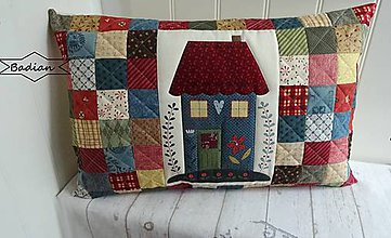 Úžitkový textil - Domčeky  ... vankúš No.4 - 10425316_