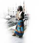Sukne - lel, tyrkys škorica,čokoláda sukňa patchwork - 10423769_