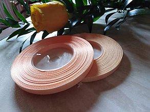 Galantéria - Stuha vo farbách broskyňova, marhuľová  (Marhuľová) - 10423740_