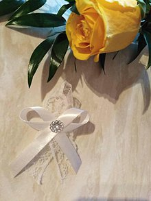 Pierka - Svadobné pierko biela čipka - 10425910_