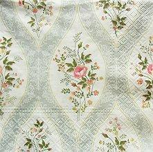 Papier - S1397 - Servítky - ruža, krajka, čipka, kvety, ornament - 10422190_