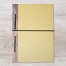 Papiernictvo - MADEBOOK zošit A5 - drevo - 10423921_
