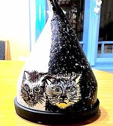 Svietidlá a sviečky - Dekoračný kryt- Mačka - 10423704_