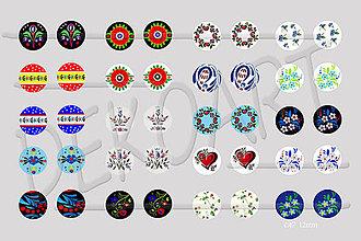 Materiál ručne robený - Motívy na šperky č.47 - akcia 4+1 na všetky motívy - 10423311_